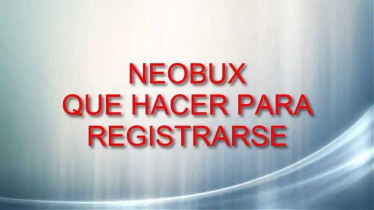 Neobux-Registro Como registrarse en Neobux Derrota la Crisis Afiliados: (En construccion) Registro en: http://www.neobux.com/?r=abilio1954 Suscribete: https:...