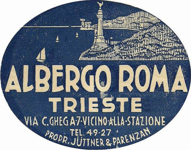 https://flic.kr/p/rop2Q7   Trieste Hotel Roma   Luggage Label, Etichette Bagaglio, Trieste.