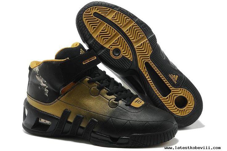 Cheap Adidas Kevin Garnett VI Black/Gold Kevin Garnett Shoes 2013 For Christmas