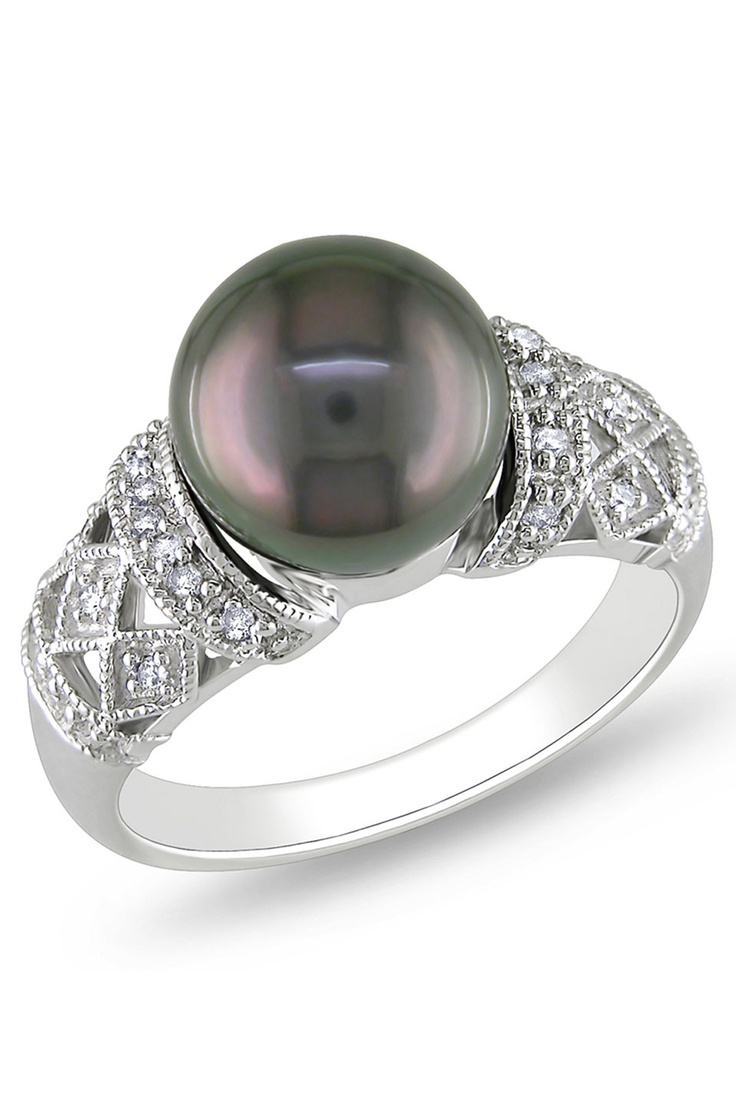Find This Pin And More On Black Tahitian Pearl Wedding Rings