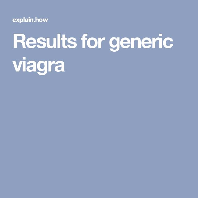 Results for generic viagra