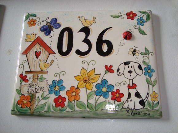 placa numeros para casa