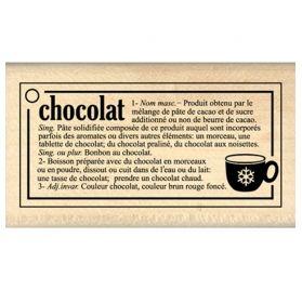 Tampon Caoutchouc - Florilèges Design - Définition Chocolat