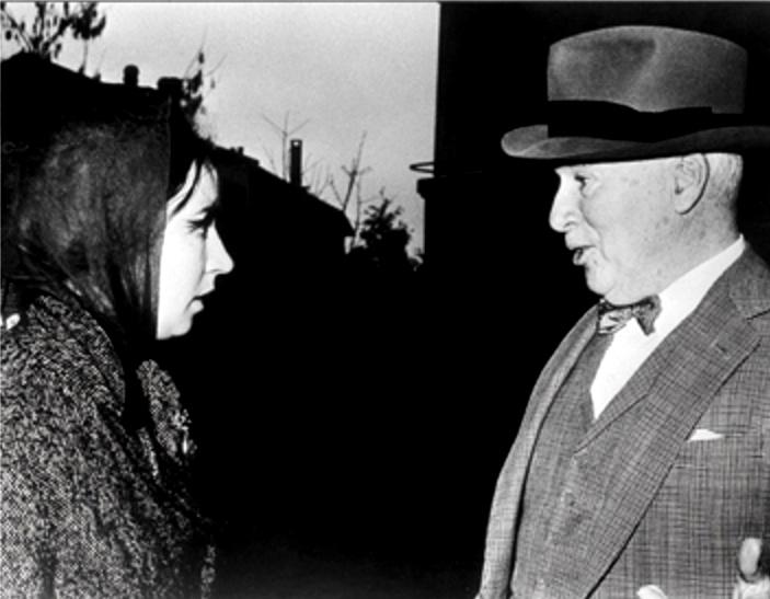 Con el maestro Chaplin