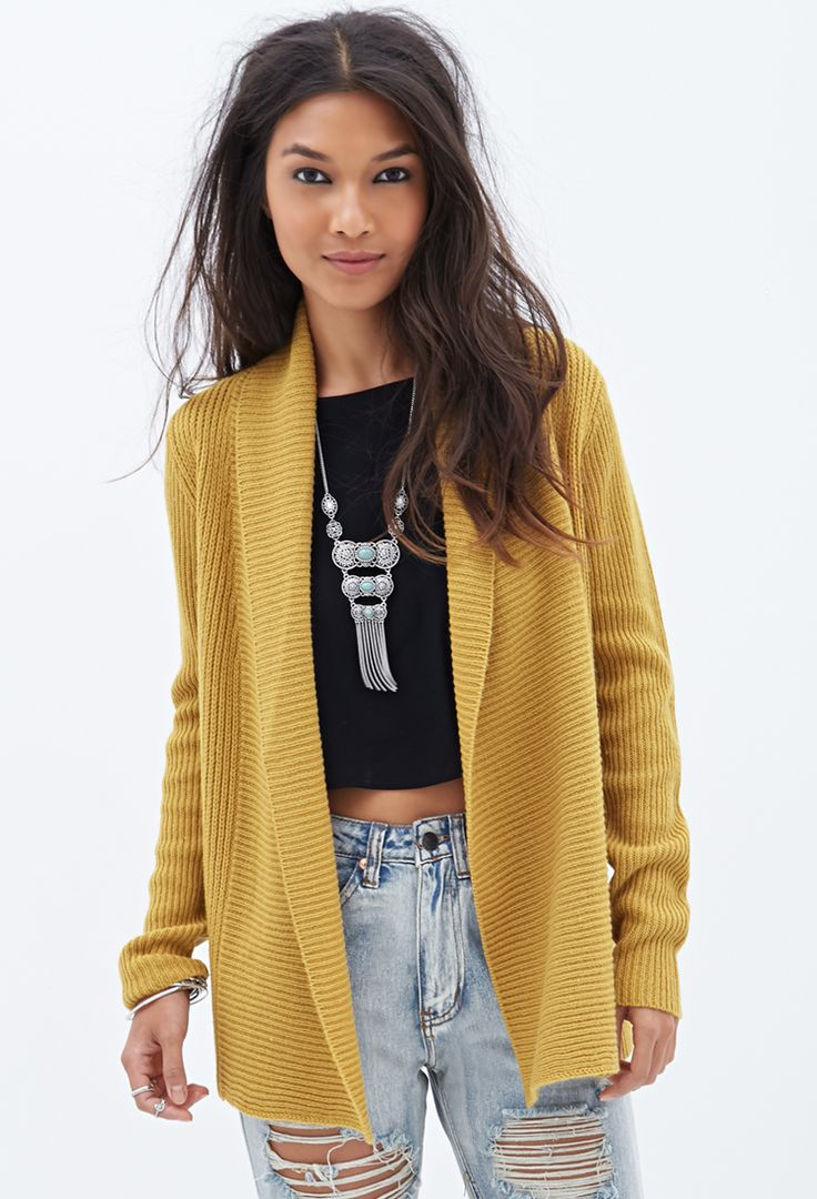 Ribbed Open-Front Cardigan | FOREVER21 | STYLE | General ...
