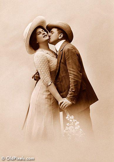 Vintage. Couple. Love