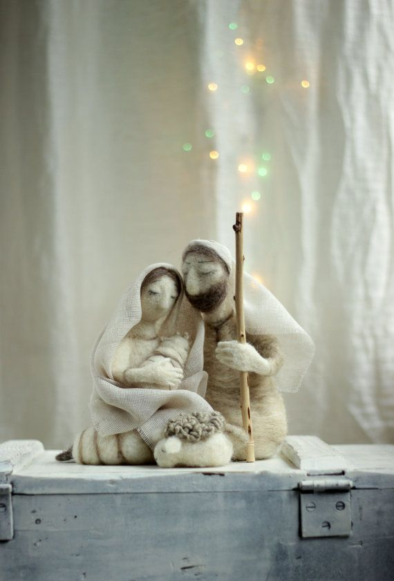 Custom Order - Needle Felted Nativity Set I love to make little dolls and hope you like them too.