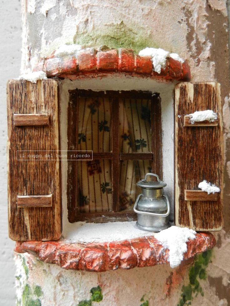 Natale (particolare) Tegole antiche decorate e dipinte a mano http://www.coppobuonricordo.it/2013/11/natale.html