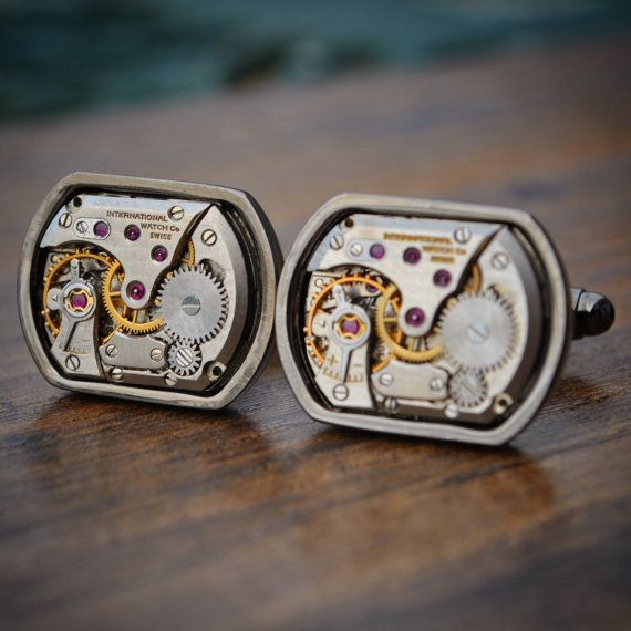 IWC Cufflinks International Watch Company by JFoxCufflinks on Etsy