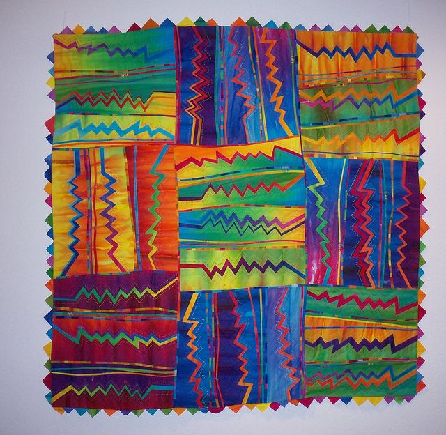 inspiration! (painted paper) melody johnson quilt. great for line