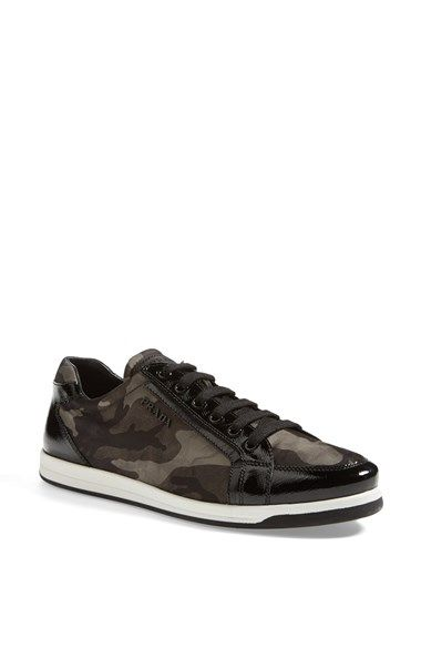 Prada Lace-Up Sneaker available at #Nordstrom