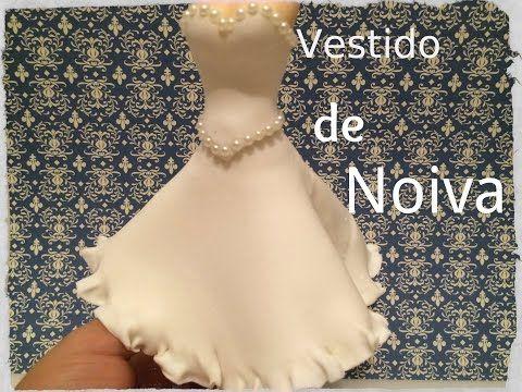 Vestido de Noiva em Biscuit - YouTube