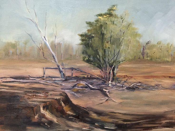 Australian landscape oil on canvas Rick Brun