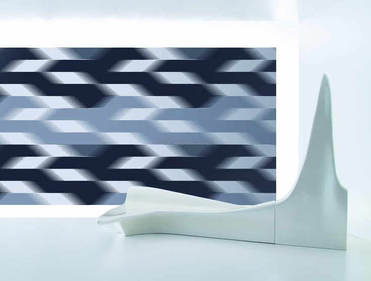 Wallpapers :: Modern :: Zaha Hadid Stria Part I Black 3.00x3.30 No 1377 - WallpaperShop