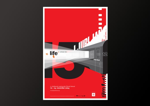 15. Ljubljana International Film Festival by IlovarStritar , via Behance