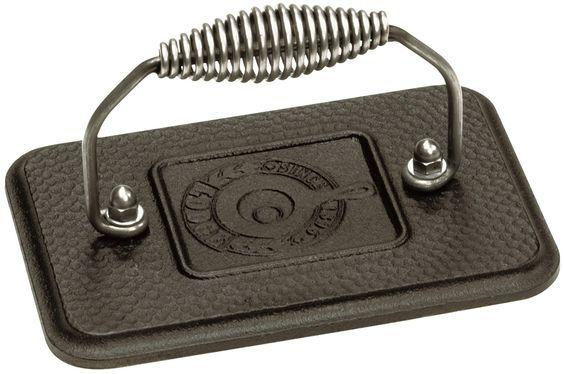 Lodge LGP3 Rectangular Cast Iron Grill Press, Pre-Seasoned, 6.75-inch x 4.5-inch >>> For more information, visit now : Roasting Pans