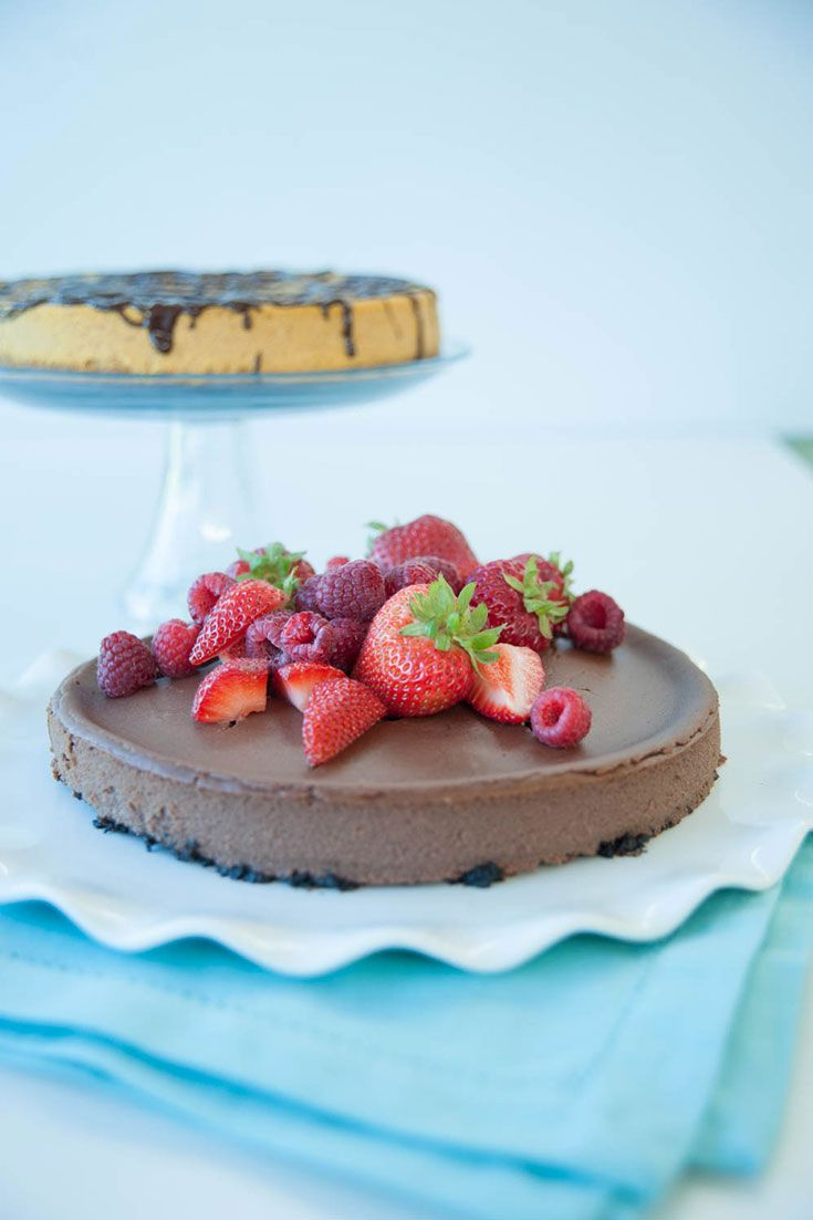 Chocolate Velvet Cheesecake: Serve with fresh fruit, dust with cocoa, top with whipped cream, or drizzle with chocolate sauce.