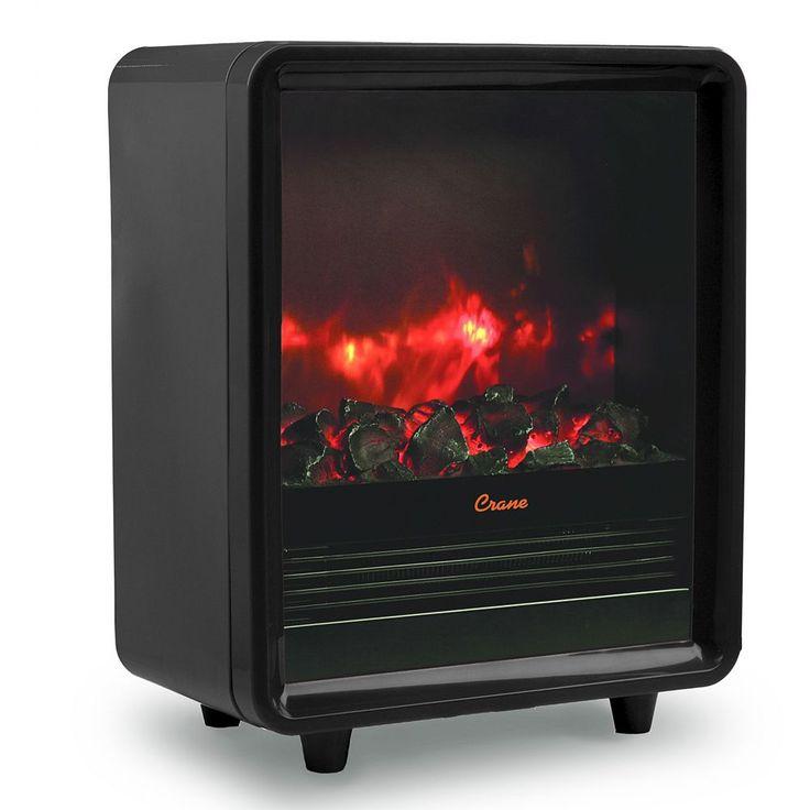 Crane Fireplace Space Heater, Black