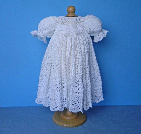 Crocheted Baptismal Dress  by Nancy of CherryHillCrochet