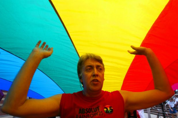 Artist Gilbert Baker, who created the iconic gay pride rainbow flag as a symbol of gay rights and anti-war protest in 1978 has died at age 65