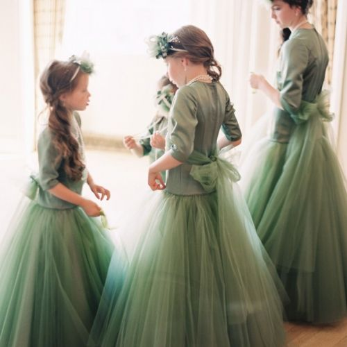 bridesmaid dresses,dark green,elegant,long,sleeves,bridesmaids,dress,dresses,emerald,green,mint,pantone,fairytale,forest,sparkling,Beverly H...
