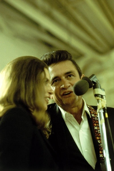 June Carter Cash and Johnny Cash.