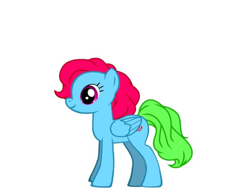 This is my My Litte Pony OC and I did it on MLP Pony Creator on Doll Devine. Her name is Candy Cloud.