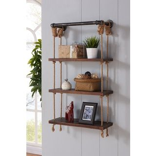 Shop for Armen Living Brannon Silver-finished Modern Walnut Wood 24-inch Floating Wall Shelf. Get free shipping at Overstock.com - Your Online Furniture Outlet Store! Get 5% in rewards with Club O! - 19997709