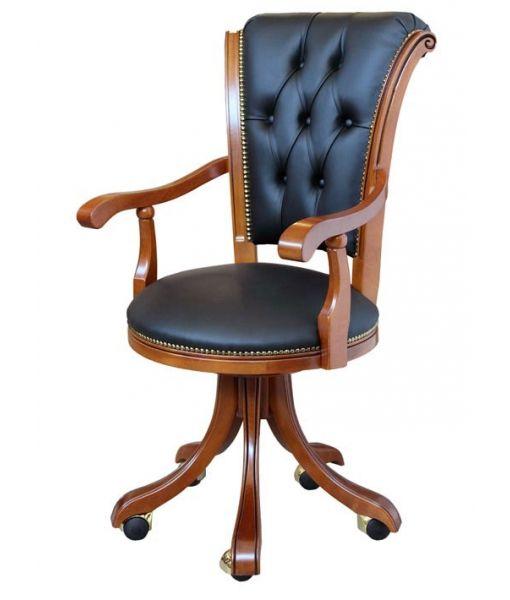Classic armchair for office. Wooden armchair, swivel armchair. Italian design armchair. Product code: Dinamicwww.italian-style.co.uk/wp/product/dinamic-classic-armchair-for-office/