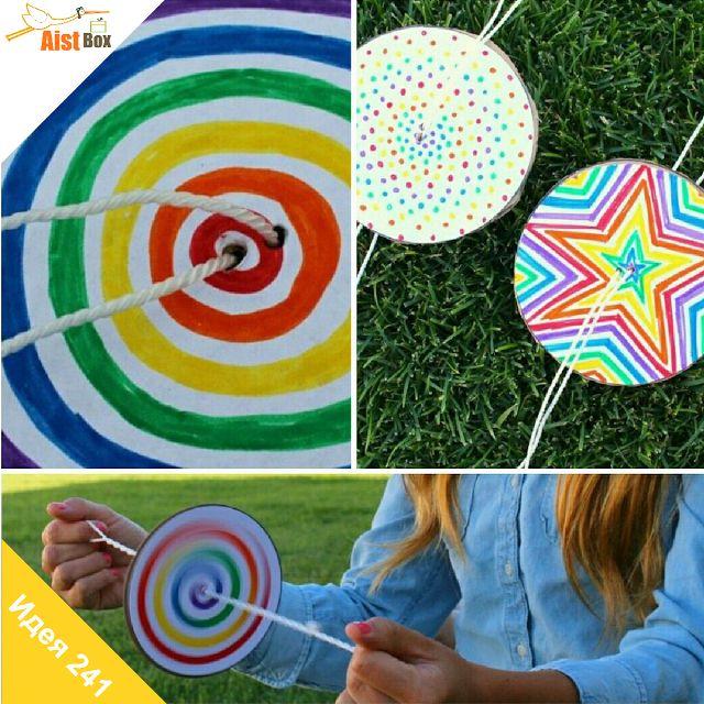 AistBox: 270 идей лета: яркая вертушка  Лето почти на исходе, давайте сделаем ещё одну яркую поделку! Смастерите с детками разноцветную вертушку) На это уйдёт совсем немного времени, а удовольствия будет масса.