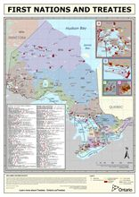 First Nations and Treaties map of Ontario