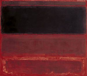Four Darks in Red, 1958 -- by Mark Rothko (1903--1970, Latvian-American)