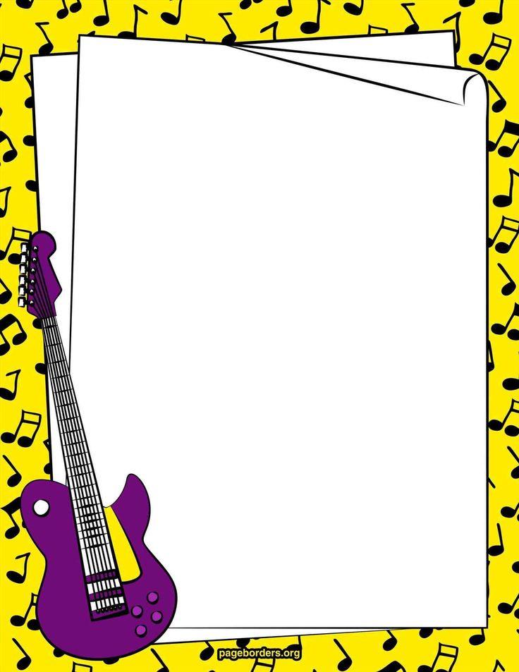 The  Best Music Border Ideas On   Clip Art Microsoft