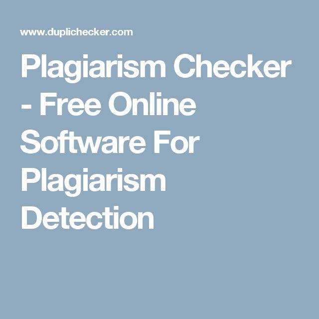 free online plagiarism checker software plagiarism detection