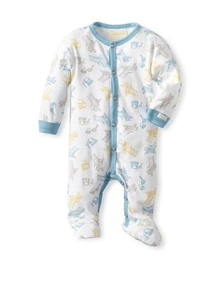 60% OFF Coccoli Baby Newborn Sunny Days Footie (Multi Beach Print Of Blue/Yellow)