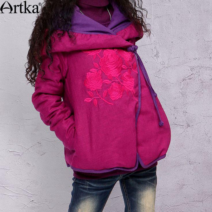 Artka Winter Down Parka Women's Autumn Jacket Coat Hooded Embroidery Overcoat Ethnic Female Jacket Vintage Thick Parka MA10531D Jetzt bestellen unter: https://mode.ladendirekt.de/damen/bekleidung/jacken/winterjacken/?uid=b09b26c2-bc72-557f-8442-d9da6b885362&utm_source=pinterest&utm_medium=pin&utm_campaign=boards #winterjacken #bekleidung #jacken
