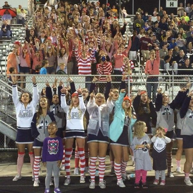 Ahhhh!!!! Such an awesome night! Where's Waldo pep club theme.
