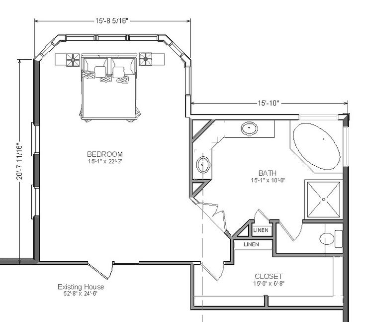 Home Additions Plan Drawings: Master Bedroom Addition Suite With