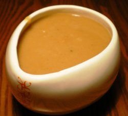 Mmmm....KFC-style gravy is perfect for potatoes, chicken, turkey--you name it! 3 tablespoons butter or vegetable shortening 5 tablespoons all-purpose flour 1 piece chicken cube or 2 teaspoons chicken powder 1 piece beef cube or 2 teaspoons beef powder 2 1/4 cups water