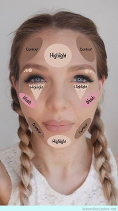 Super easy Contouring Hack Sheet. DIY Tips, Tricks, And Beauty Hacks Every Girl Should Know. For Teens with Acne, To Makeup For Natural Looks Or Shaving. Stuff For Skincare, For Hair, For Overnight Treatment, For Eyelashes, Nails, Eyebrows, Teeth, Blackheads, For Skin, and For Lazy Ladies Looking For Amazing and Cheap, Step By Step Looks.