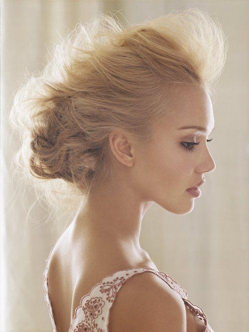 : Hairstyles, Fashion, Inspiration, Makeup, Jessicaalba, Hair Style, Jessica Alba, Beautiful People, Updo