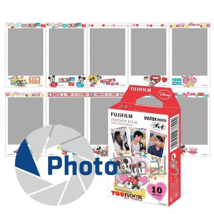 Fujifilm Instax Mini 8 Full Color MICKEY & FRIENDS Fuji Instant Film 10 Sheets