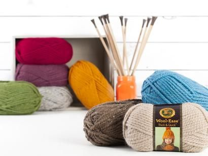 Wool-Ease Thick & Quick from Lion Brand is the super bulky member of the…