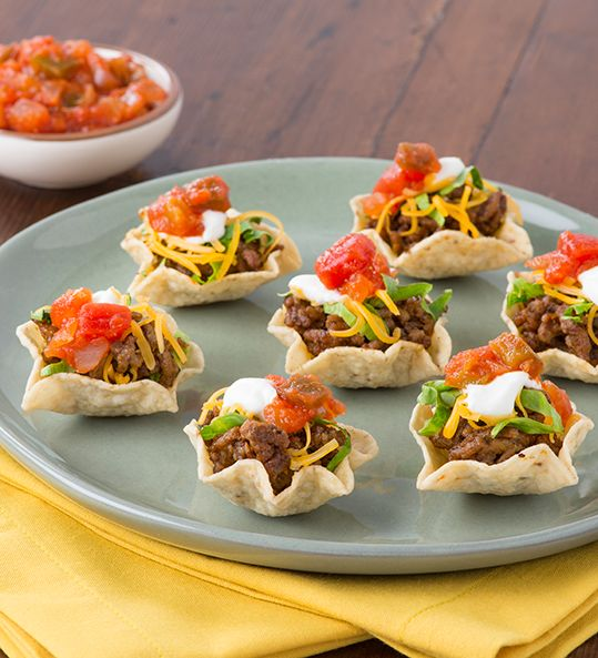Taco Night in One Bite // Love these little appetizers! Definitely making these for New Years! #InspiretheSeason #ad