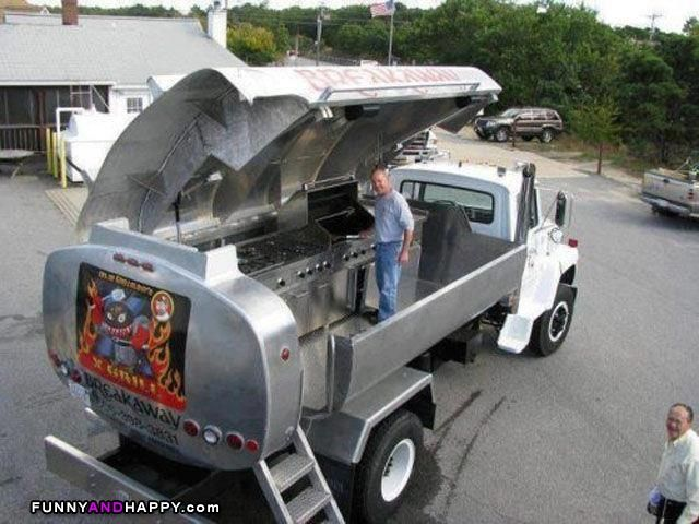 Grilling Funny | Grill made from tank | Funny Page | Funny Pictures