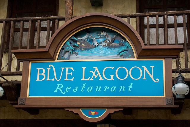 My favourite place to eat at the Disneyland Park in Paris. Quite acceptable food, very memorable, scenic location in the Pirates of the Caribbean ride.