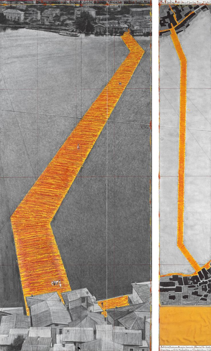 Christo and Jeanne-Claude -  The Floating Piers (Project for Lake Iseo, Italy)