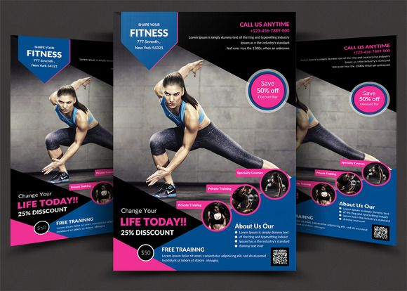 8 best Posters and Flyers images on Pinterest Black, Fonts and - gym brochure templates