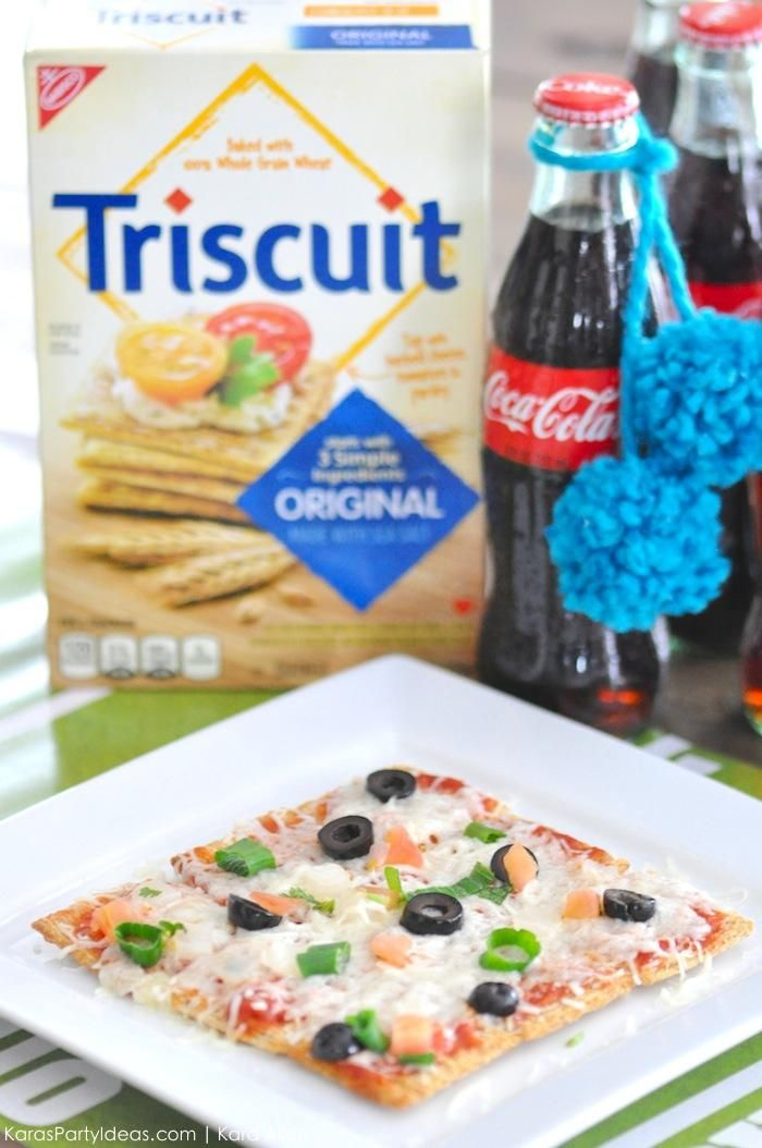 Pull Apart Triscuit Pizza Recipe For The Football Via Kara S Party Ideas