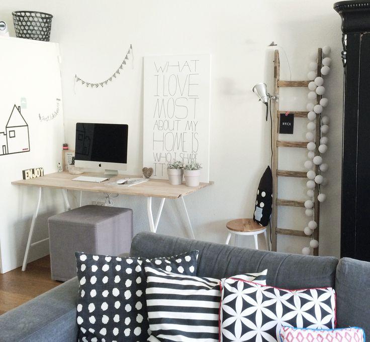 #werkplek voor thuis Blad van steigerhout te bestellen bij #echtvanhout.nl